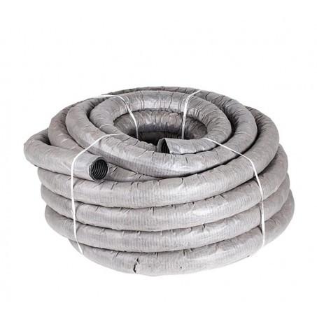 Труба дренажная гофрированная (ДГТ) 200мм без перфорации, без фильтра (50м)