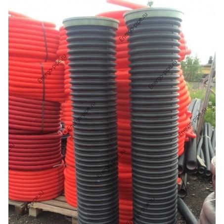 Колодец ПНД канализационный,смотровой,дренажный внутр. диам. 300 мм. высота-1 метр + 3 вход. отв.(манжеты)
