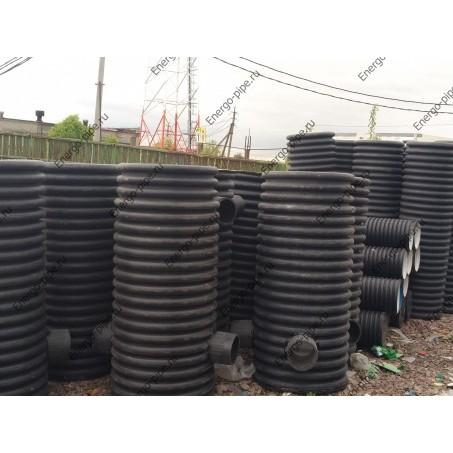 Колодец ПНД канализационный,смотровой,дренажный внутр. диам. 600 мм. высота-2 метра (сварной)