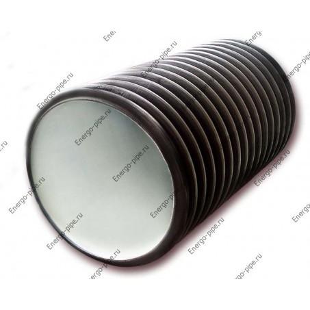 Шахтная гофрированная двухслойная ПНД труба для канализационного колодца D 460*400 - 6 метров