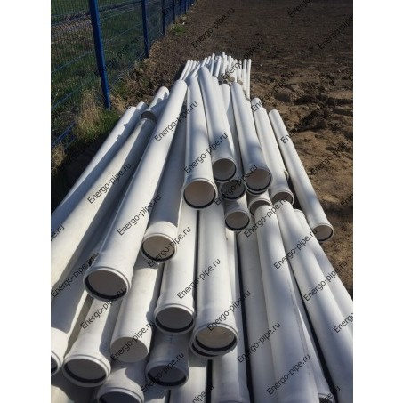 Труба ПП канализационная раструбная гладкая с улучшенным шумопоглощением (белая) D 100 мм стенка 3.4 мм - 0.5 метра