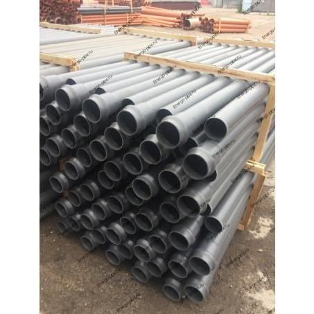 Труба ПП канализационная с раструбом DN 32 мм стенка 1.8 мм - 0.5 метра (серая)