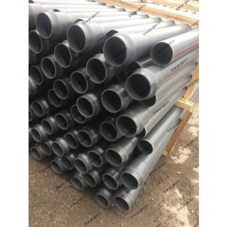 Труба ПП канализационная с раструбом DN 40 мм стенка 1.8 мм - 0.15 метра (серая)